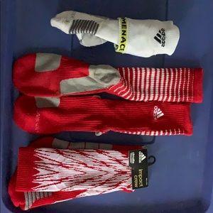 3 pairs of team issued Adidas socks